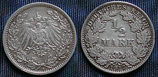 MONETA COIN GERMANIA EMPIRE OF GERMANY ½ MARK 1917 (A) ARGENTO SILBER SILVER