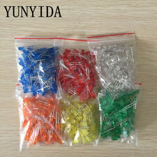 10 20 50 100 St.LEDs,5mm,Leucht-Diode rot gelb blau weiß grün orange diffus rund