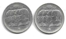 Belgique 1948 & 1950 - 2 x 100 francs - Prince Charles - Argent - FR - (E6)