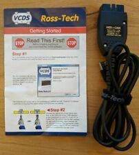 🔥 7-Day Rental, Ross-Tech Cable HEX-CAN USB VCDS Vagcom VW Audi with Software