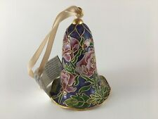 Tall cloisonne bell ornament Victorian Enamelling