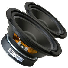 """Pair GRS 6PR-8 6.5"""" Poly Cone Rubber Surround Woofer 8ohm 85W 85dB 1.5""""Coil"""