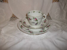SHELLEY NEW YORK SHAPE PRETTY BRAMBLE  ROSE CUP SAUCER & TEA PLATE TRIO
