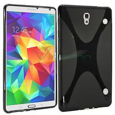 Pellicola+Custodia X Style lucida NERA per Samsung Galaxy Tab S 8.4 T705 cover
