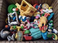 Vintage Toy Lot Burger King Mcdonalds Jetsons Flinstones Sesame Street