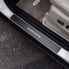 Door Sill Plate Protectors Black Matte Vinyl fits Ford Escape 2015 2016 2017