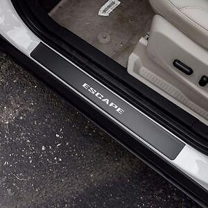 Door Sill Plate Protectors Black Matte Vinyl fits Ford Escape 2013 - 2021
