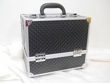 #C Damaged new caboodles train case makeup cosmetic organizer tres chic storage