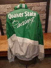 Vintage Quaker State Racing Jacket Windbreaker Swingster Full Zip USA Made Large