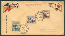 Philippines Japanese Occupation Dec. 8, 1943 BAHA Stamps WWII First Day Cover
