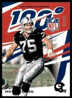 2019 Chronicles Base NFL 100 Blue #75 Howie Long /99 - Los Angeles Raiders