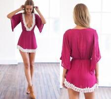 Women Summer Bikini Cover Up Tops Dress Swimwear Crochet Beach Wear