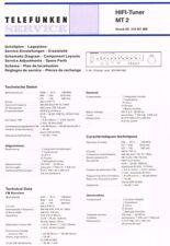 Telefunken M2-1 MT2 Tuner Schaltplan Manual ORIGINAL 11 Seiten
