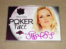 2015 Benchwarmer TIFFANY SELBY #75 Sin City Pink Foil POKER FACE Auto/5 PLAYBOY