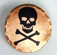 Skull and Crossbones Forged Copper Golf Ball Marker by Sunfish