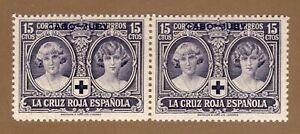 ESPAÑA CABO-JUBY 1926 EDIFIL 30** PRO CRUZ ROJA -   PAREJA HORIZONTAL