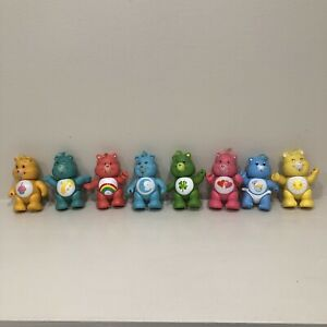 Vintage Care Bears Poseable Figures Lot of 8 with hair 1980s 1984 1983 Hong Kong