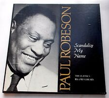 Paul Robeson Scandalize My Name 1976 Classics 5647 3 LP Box Set Book Strong VG+