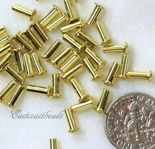 TierraCast Eyelets, 6.8 mm, Leather Craft Findings, Gold Plated, 50 Pcs, 8409