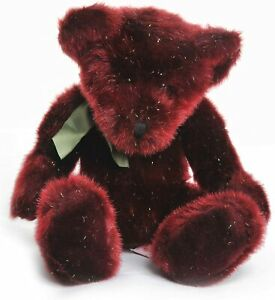 Russ Spangles Bear 14 inch Gold Tipped Red Plush Very Rare and Retired