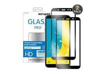 Samsung Galaxy J6 (2018) Pack de 2 films protection écran en verre trempé (Noir)