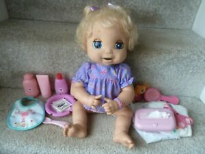 2006 BABY ALIVE SOFT FACE DOLL TALKS MOUTH & EYES MOVE with ACCESSORIES