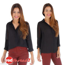 Evening, Occasion Long Sleeve Button Down Shirt Machine Washable Tops & Blouses for Women
