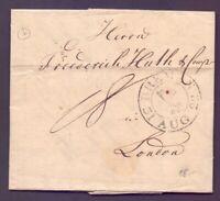 Vorphilabrief Bremen 1822 mit großem Schlüsselstempel nach London (708)