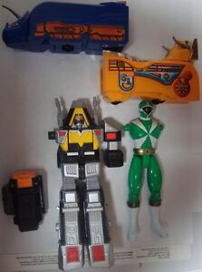 Vintage Power Rangers Bandai Megazord Green Ranger Parts Lot of 5 Pieces