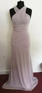 K# TFNC Bridesmaid multiway maxi DressBlush Grey SIZE UK 10