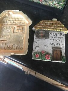 Quality Rubber Latex Mould House Plaque Fairy Garden