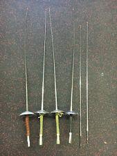 Set Of 4 Vintage Italy Fencing Swords Foils And 2 Blades /Santelli (1-Castello)