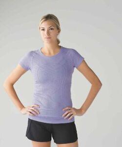 Lululemon Swiftly Tech Short Sleeve Crew Women's T-Shirt Size 8 Lilac Purple