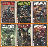 DCEASED 1 2 3 4 5 6 SET Batman Superman Wonder Woman Joker Harley DC 2019 NM- NM