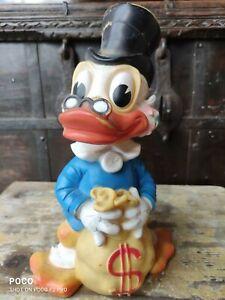 alte Walt Disney Dagobert Gummi Figur 60er Jahre Rubber Toy  vintage 26 cm