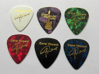 Gene Vincent Gold printed signature guitar pick plectrum picks x6