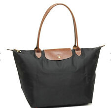 Brand New Longchamp Le Pliage Large 1899 Nylon Tote Bag Authentic-Black