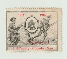 Uk- 1914-1916 3rdCounty of London Yeo Sharpshooters poster stamp Clean No gum