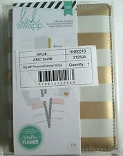 Heidi Swapp Personal Planner Stripe 122 Piece Dividers Amp Pages New White Gold