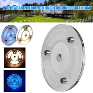 12V-24V Car RV LED Touch Screen Lighting Ceiling Warm White Light Reading Lamps
