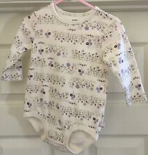Carter's white floral long sleeve one piece 12 months !!!