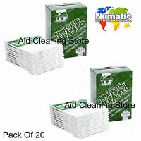 20 x Henry Hetty HEPAFLO Vacuum Cleaner Hoover Bags GENUINE NUMATIC 604015