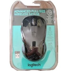 Logitech Advanced Full Size Wireless Mouse Black 910-005486 24 month battery