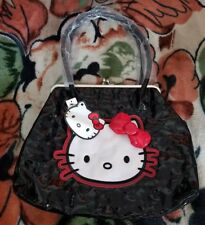 Hello Kitty Loungefly Black Embossed Large Snap Lock Bag HTF