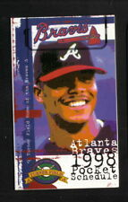 Atlanta Braves--Andruw Jones--1998 Pocket Schedule--Atlanta Marriott