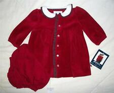 New American Living Girl's Size 3 Months Red Plaid Velour Dress Diaper Cover $28