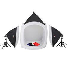 LIFE of PHOTO Lichtzelt-Set LC-60 Lichtwürfel 60cm 3x85 W  Foto-Tageslicht-Lampe