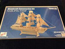 SAILING SHIP WOODCRAFT 3D Wood Construction Kit BNIP