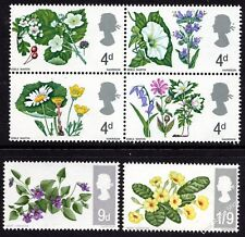 GB 1967 British Wild Flowers Set Ordinary SG 717-722 Unmounted Mint