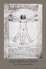 VITRUVIAN MAN - DAVINCI ART POSTER - 24x36 SHRINK WRAPPED - SCIENCE 0868